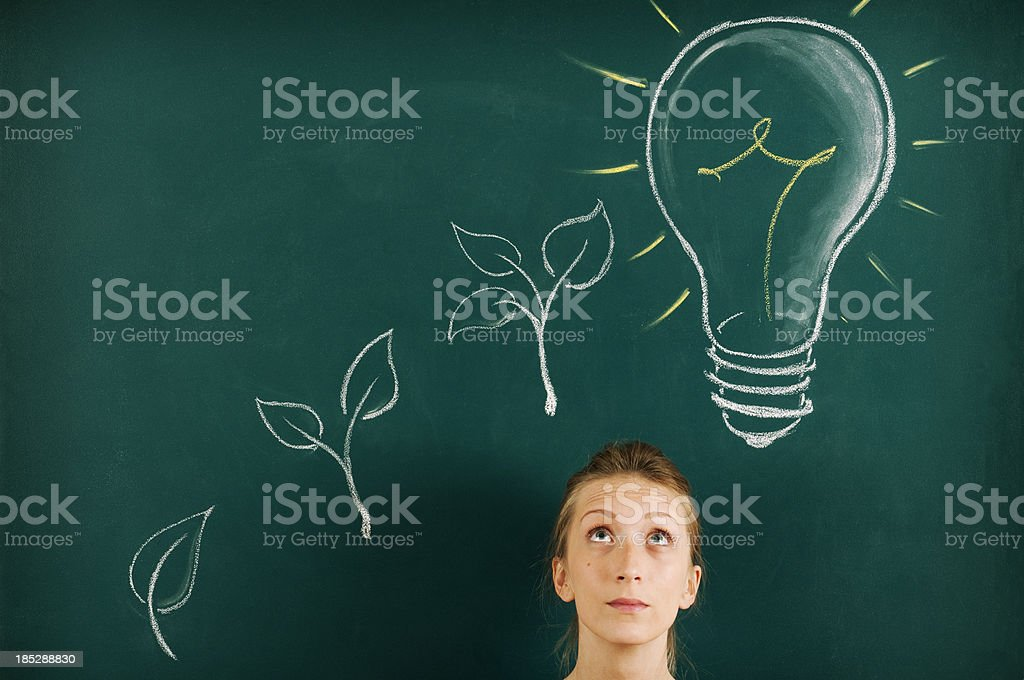 Green Energy Concept.Copy Space. royalty-free stock photo