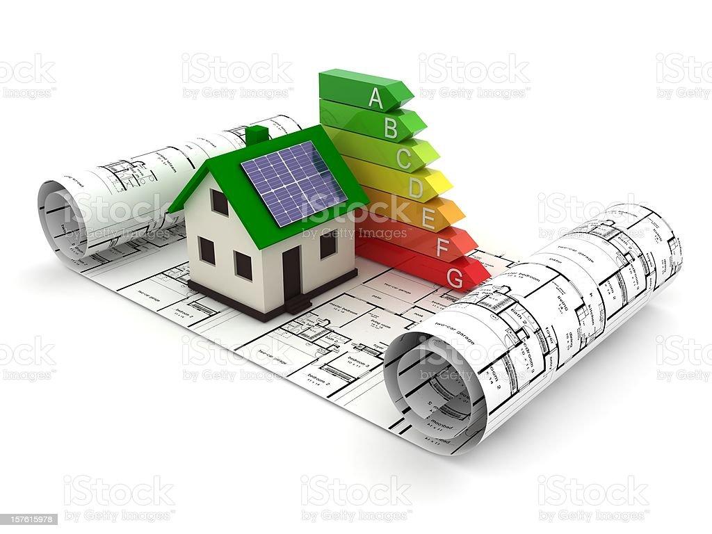 Green Energy House stock photo