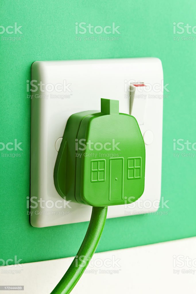 Green Energy House royalty-free stock photo