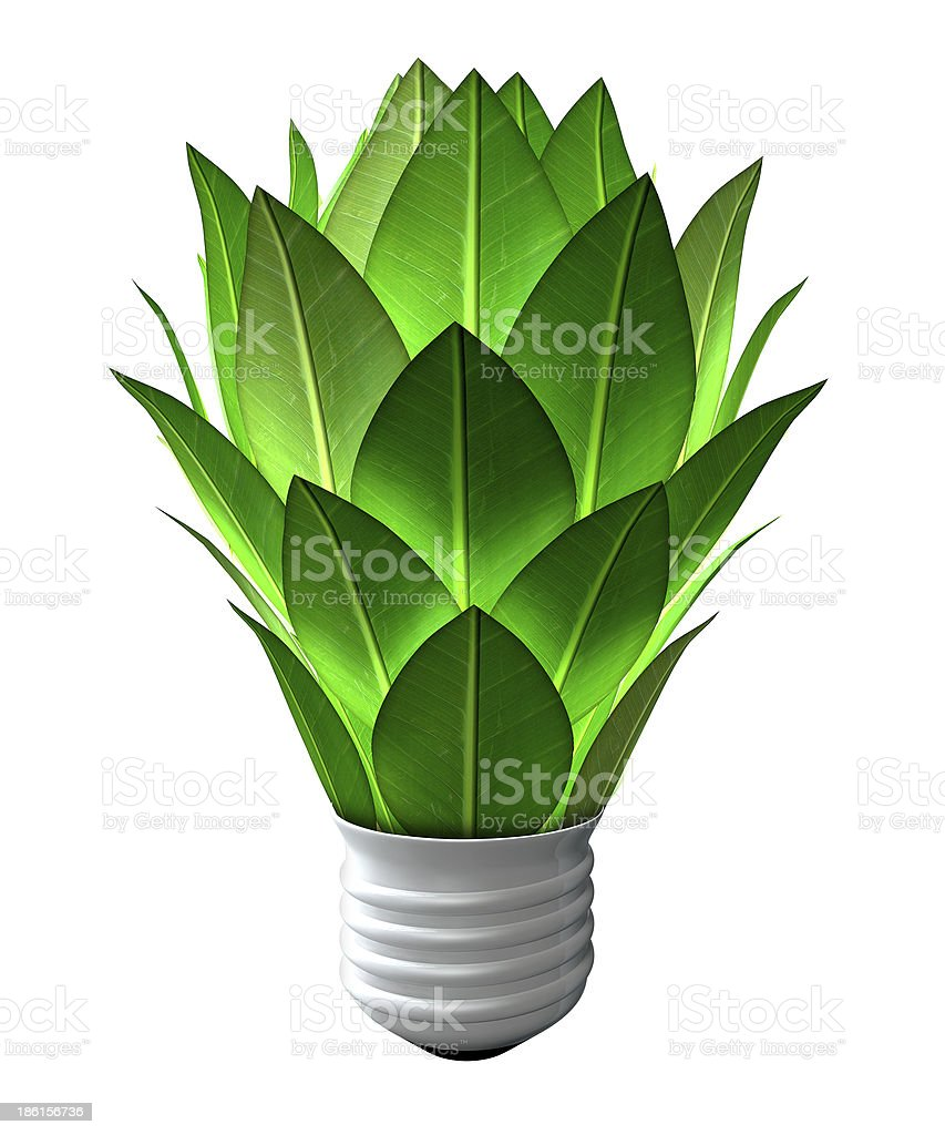 Green Energy Light Bulb royalty-free stock photo