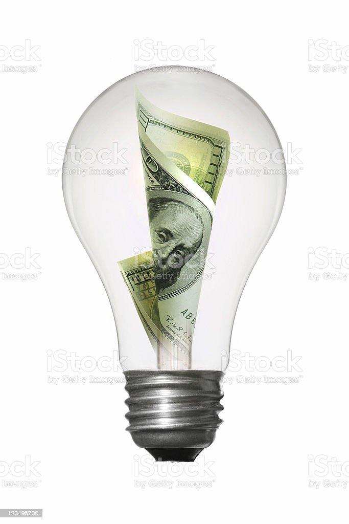 Green Energy lightbulb stock photo