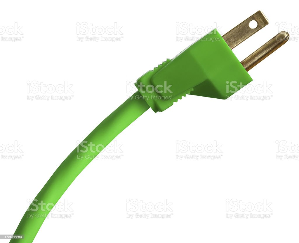 Green Energy (With Clipping Path) royalty-free stock photo