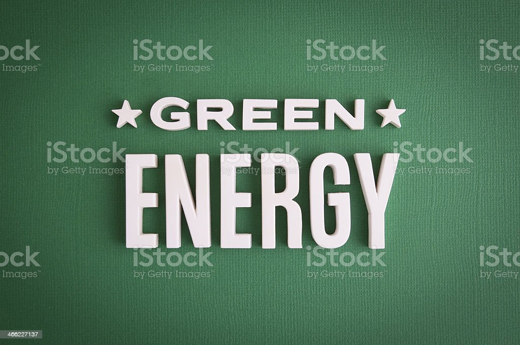 Green Energy sign lettering royalty-free stock photo