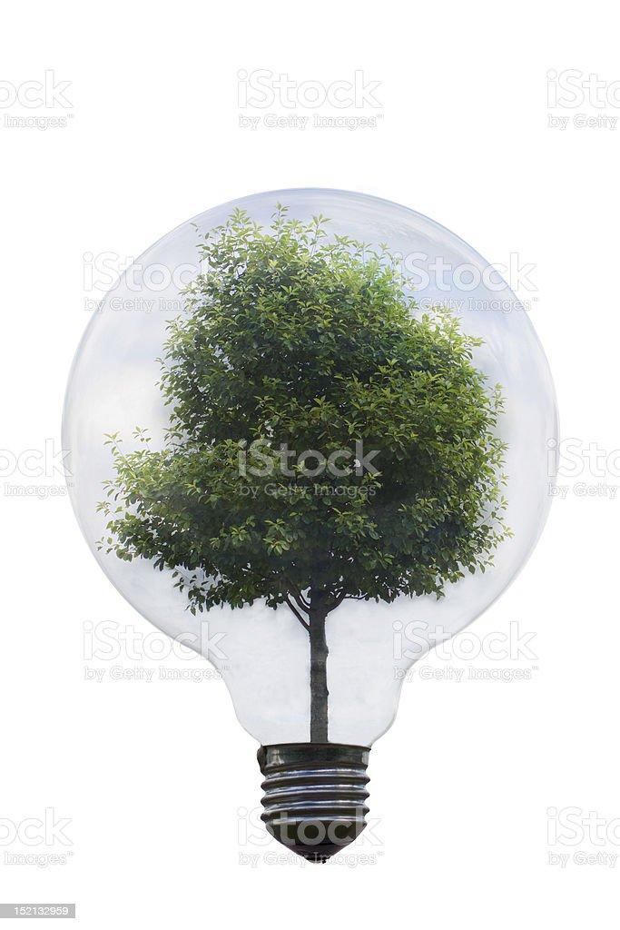 Green energy symbol royalty-free stock photo
