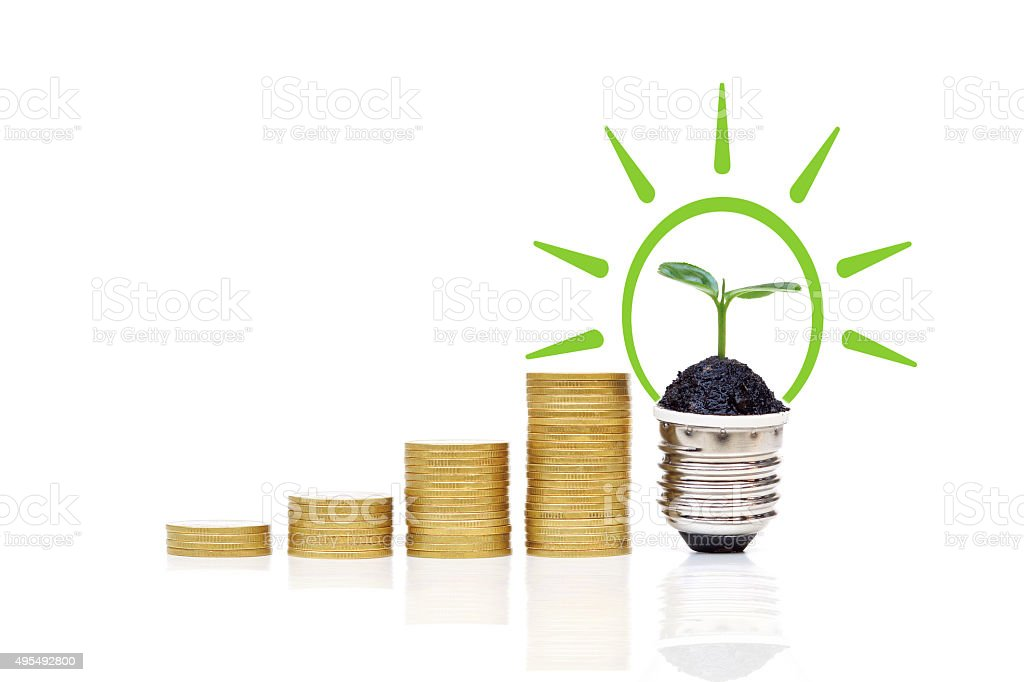 Green ennergy stock photo
