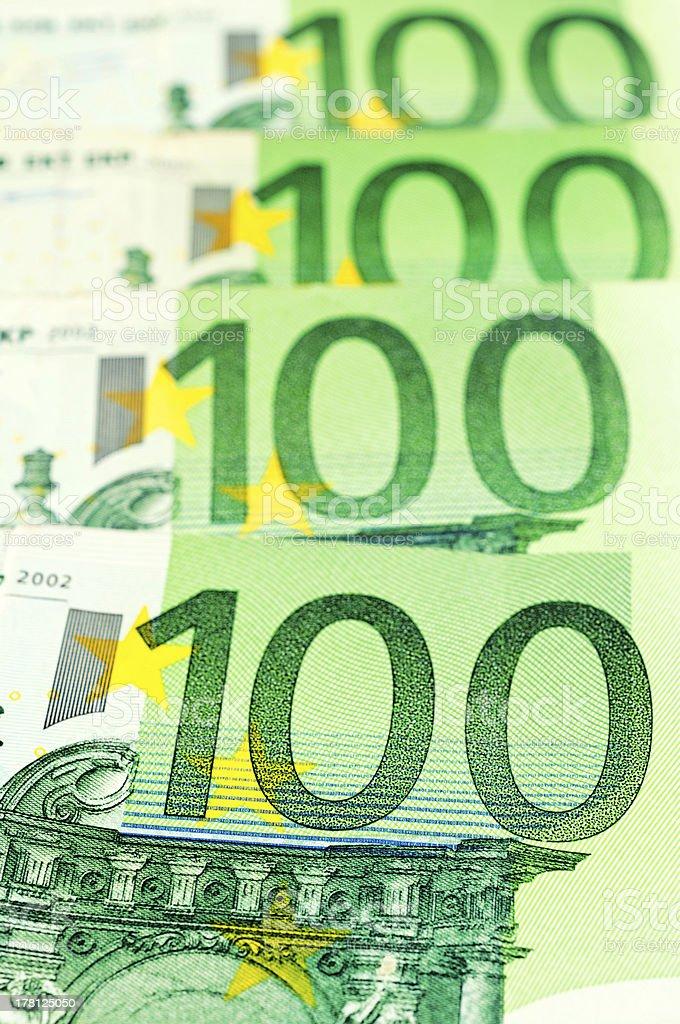 Green euro royalty-free stock photo