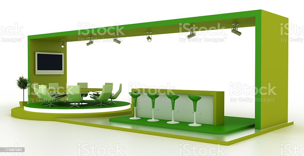 Green Exhibition Stand stock photo