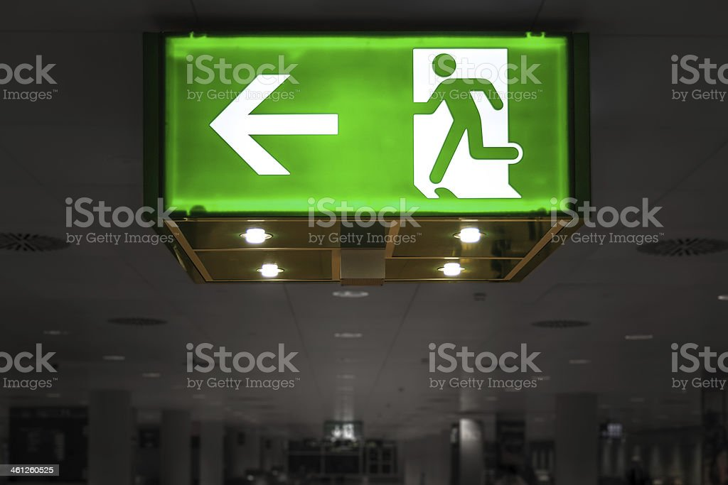 Green Exit Signal royalty-free stock photo