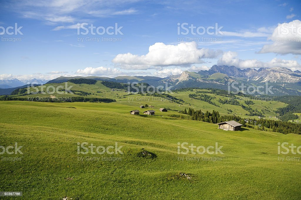 Green expanse at high altitude royalty-free stock photo