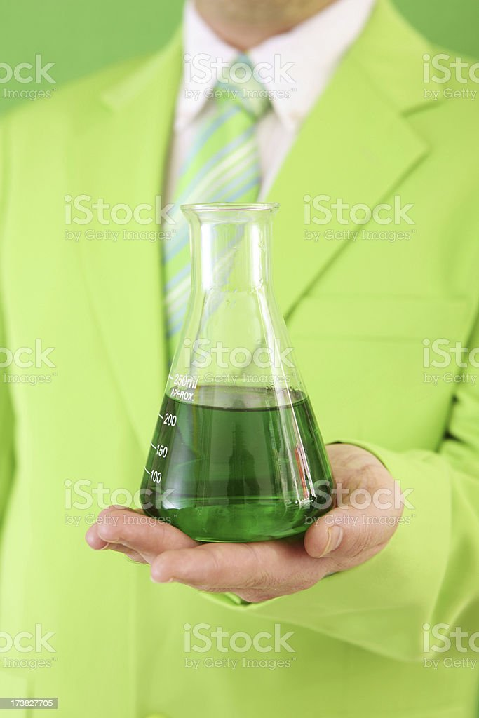 Green Experiment royalty-free stock photo