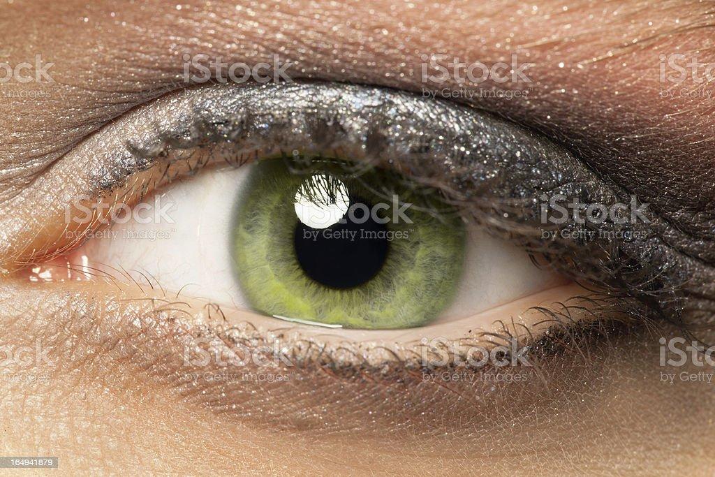 Green eye detail stock photo