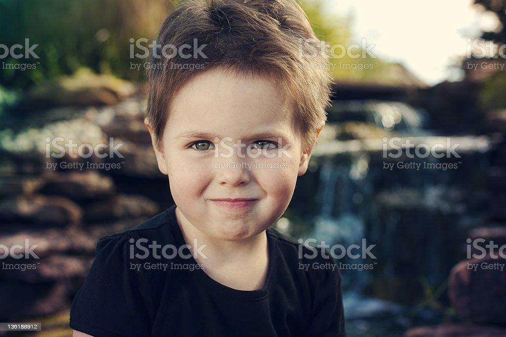 Green eye little girl royalty-free stock photo