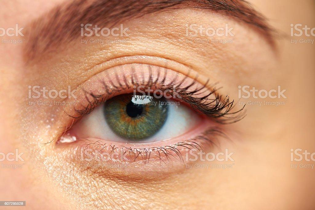 Green eye stock photo