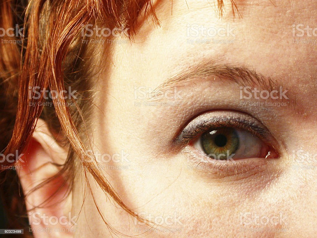 green eye, red hair royalty-free stock photo