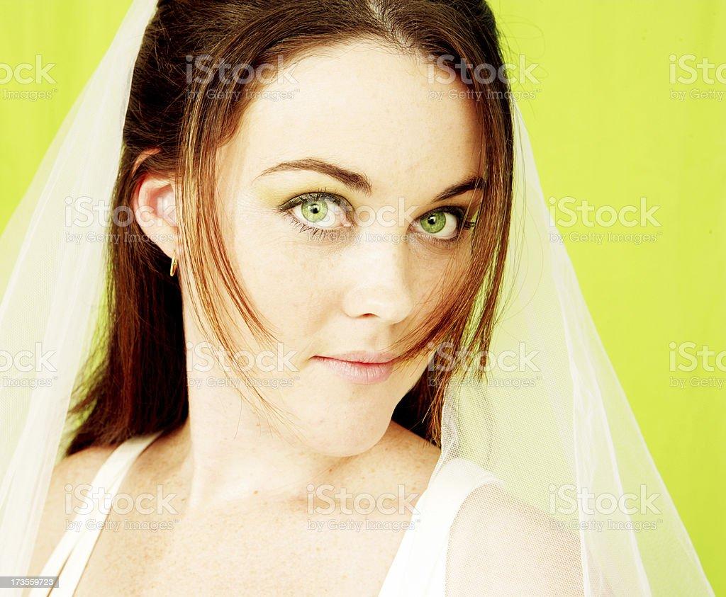 Green Eyed Bride stock photo