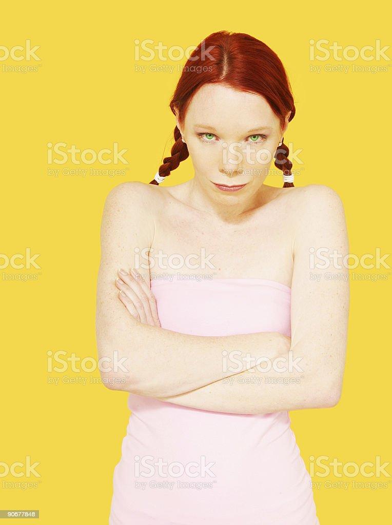 Green Eyed Grumpy stock photo