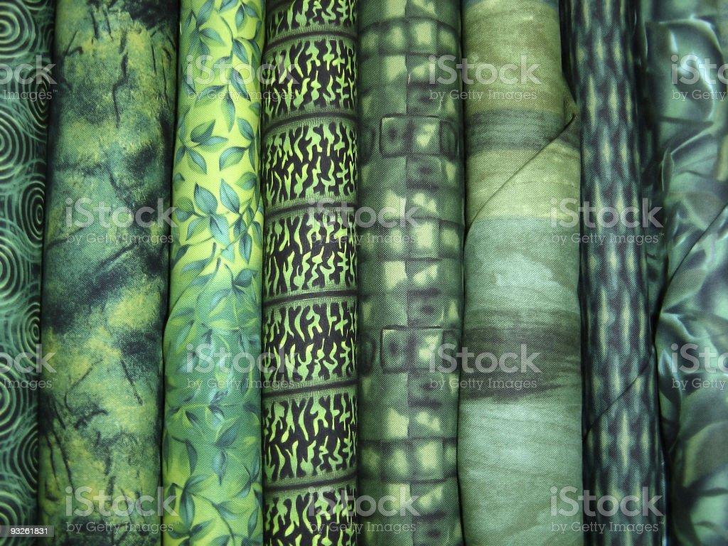 Green Fabric Bolts stock photo