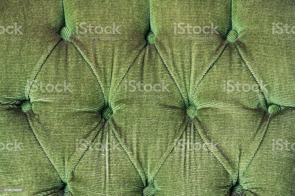 Green Fabric Button stock photo