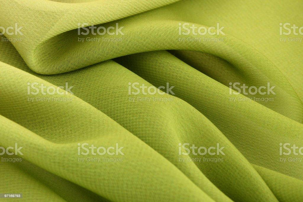 Green fabric stock photo
