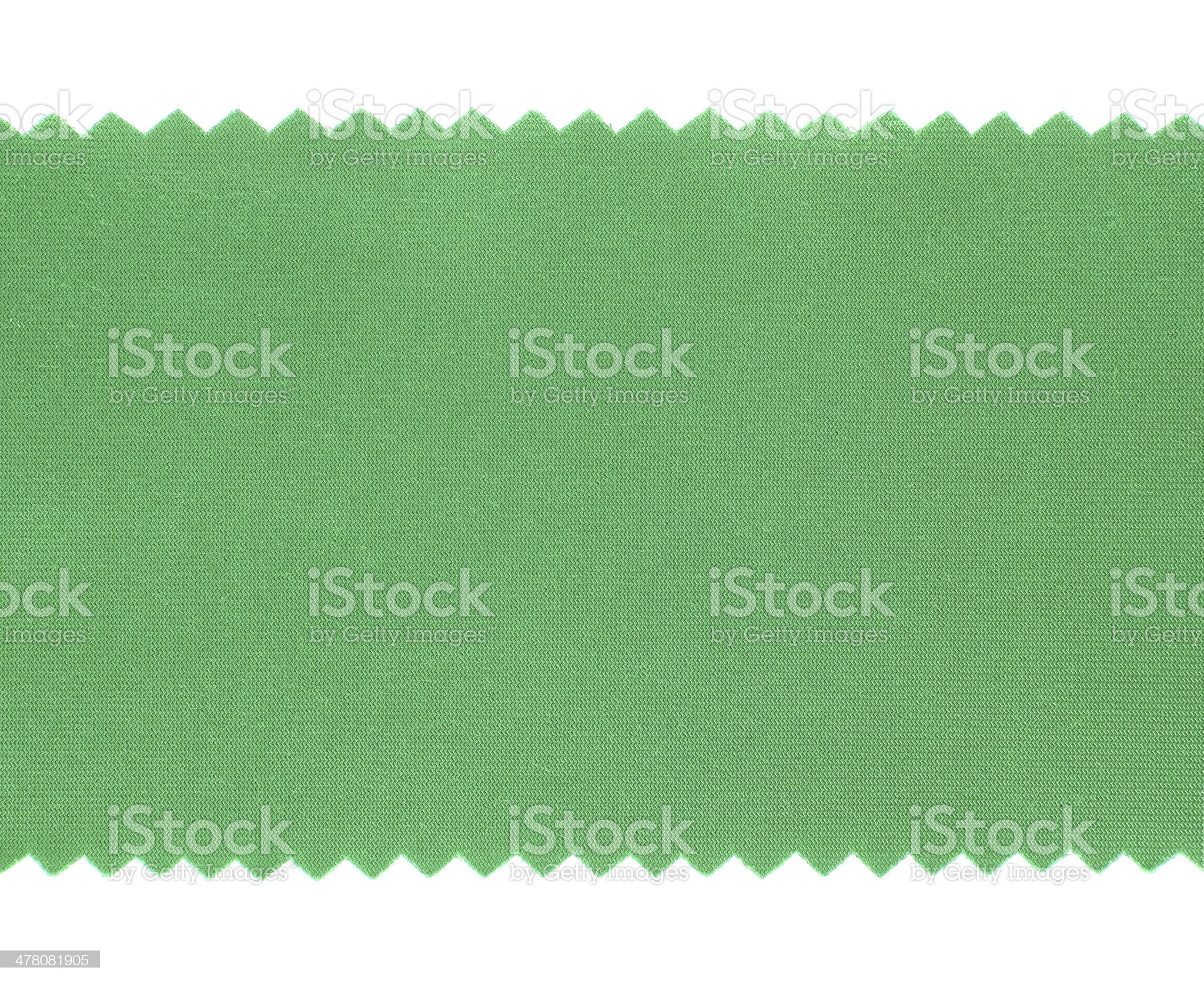 Green fabric sample texture on white Background royalty-free stock photo