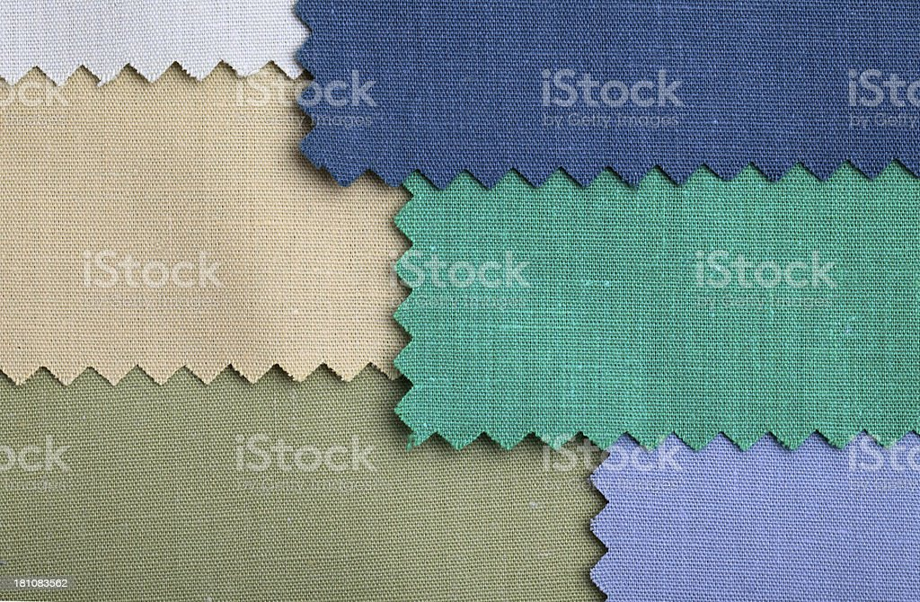 Green Fabric Swatch Background royalty-free stock photo