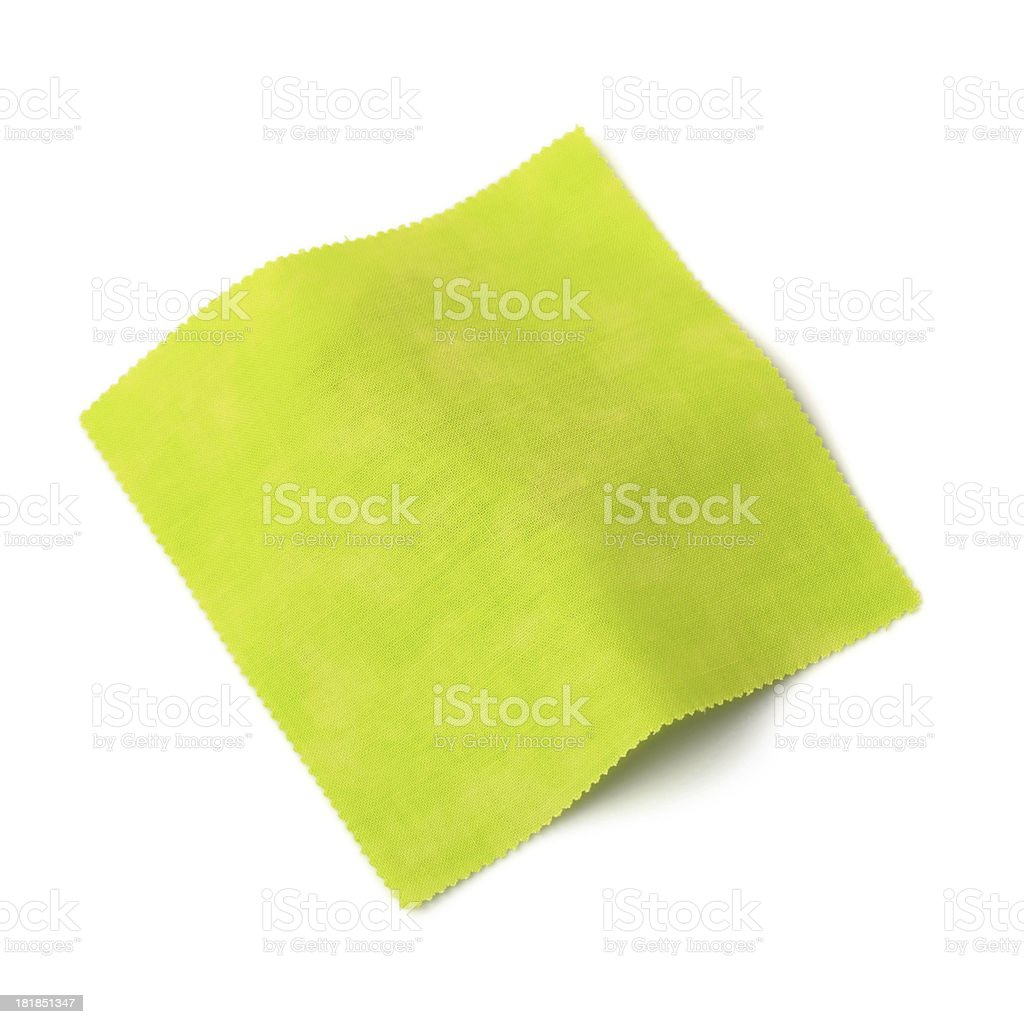 Green Fabric Swatch royalty-free stock photo