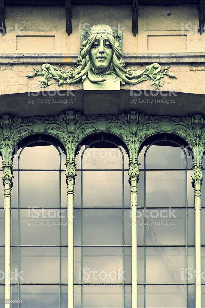 Green fairy facade royalty-free stock photo