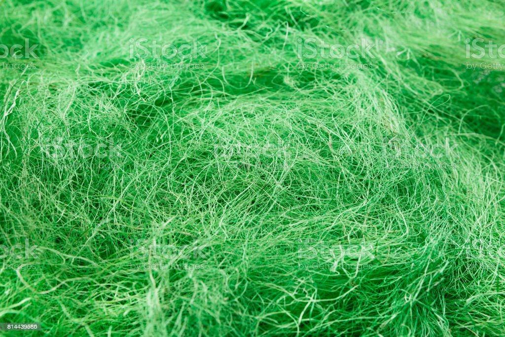 Green felted wool texture close-up stock photo