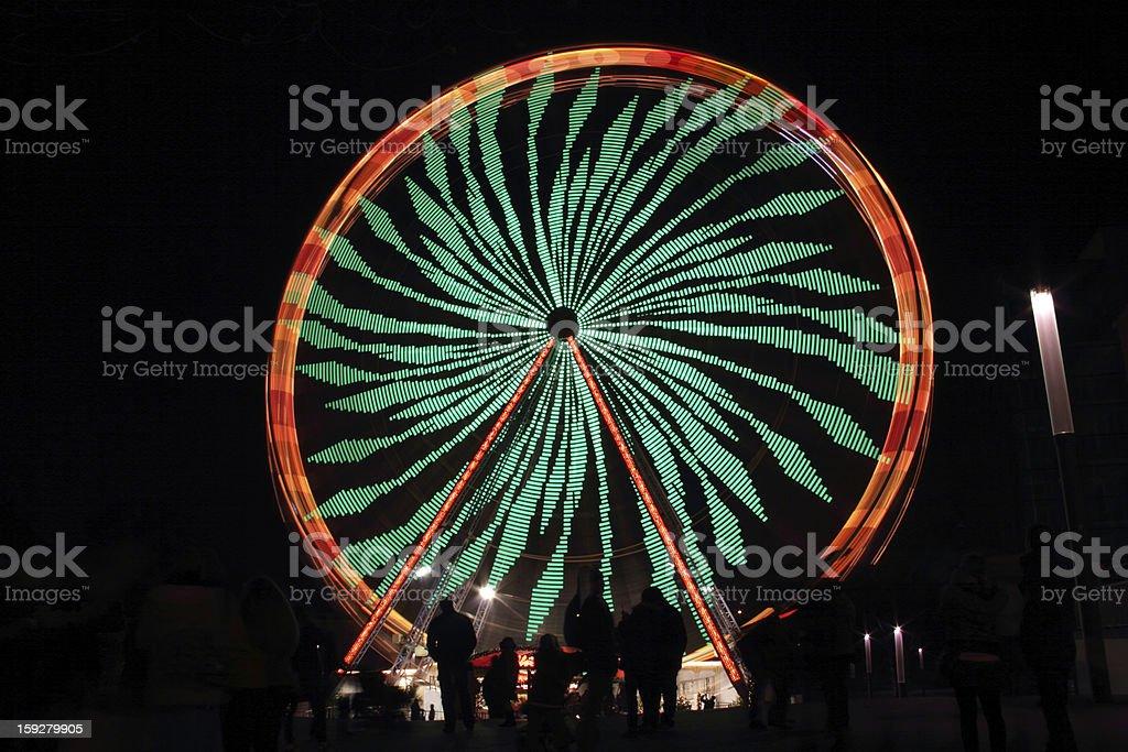 green ferriswheel stock photo