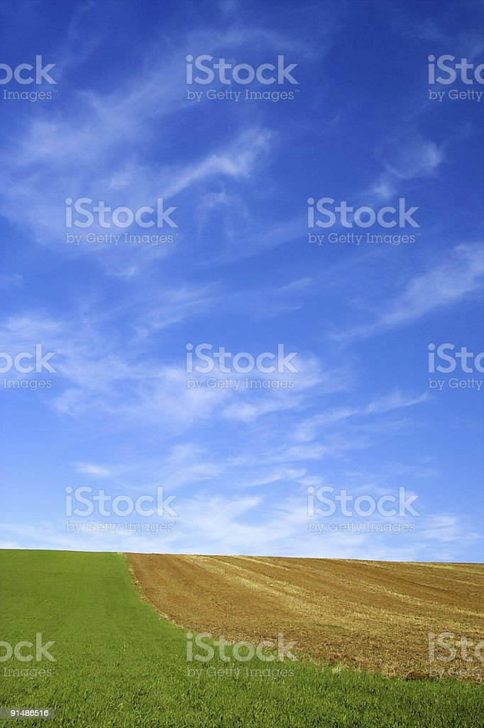 green field and blue sky 7. royalty-free stock photo