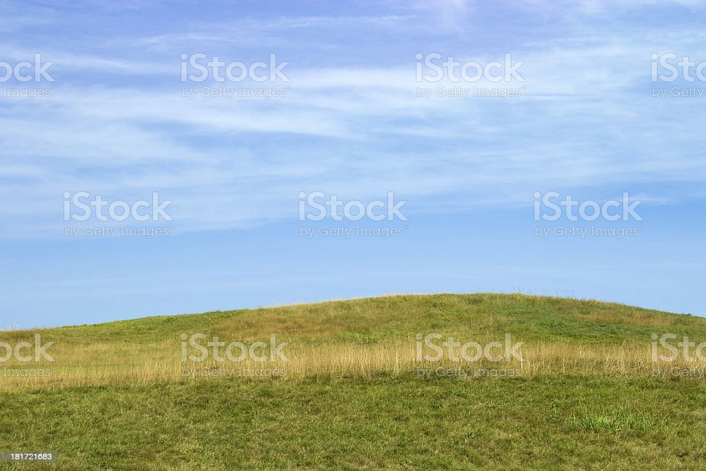 Green field and sky royalty-free stock photo