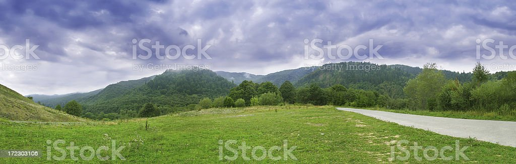 Green field - Mountain Landscape royalty-free stock photo