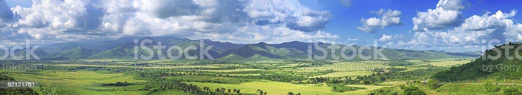 Green field panorama royalty-free stock photo