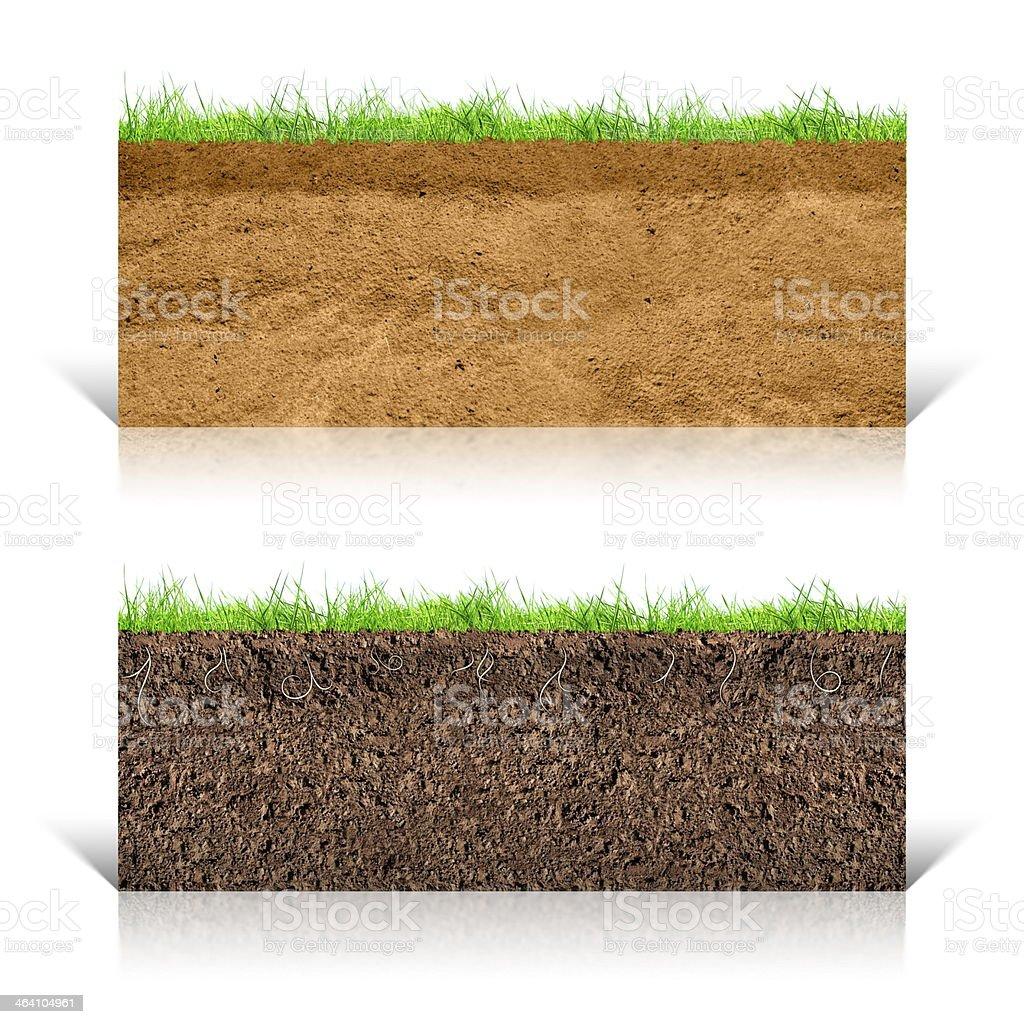 Green field underground stock photo