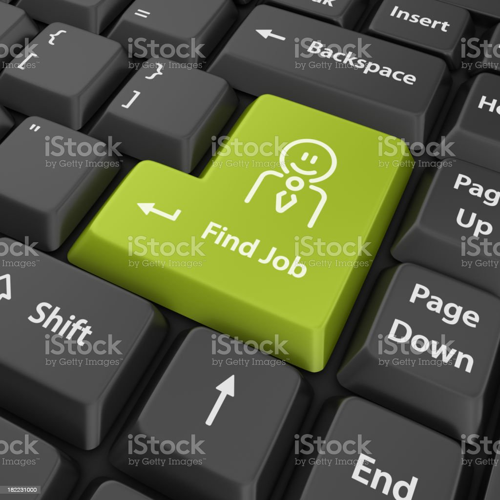 green find job enter button royalty-free stock photo