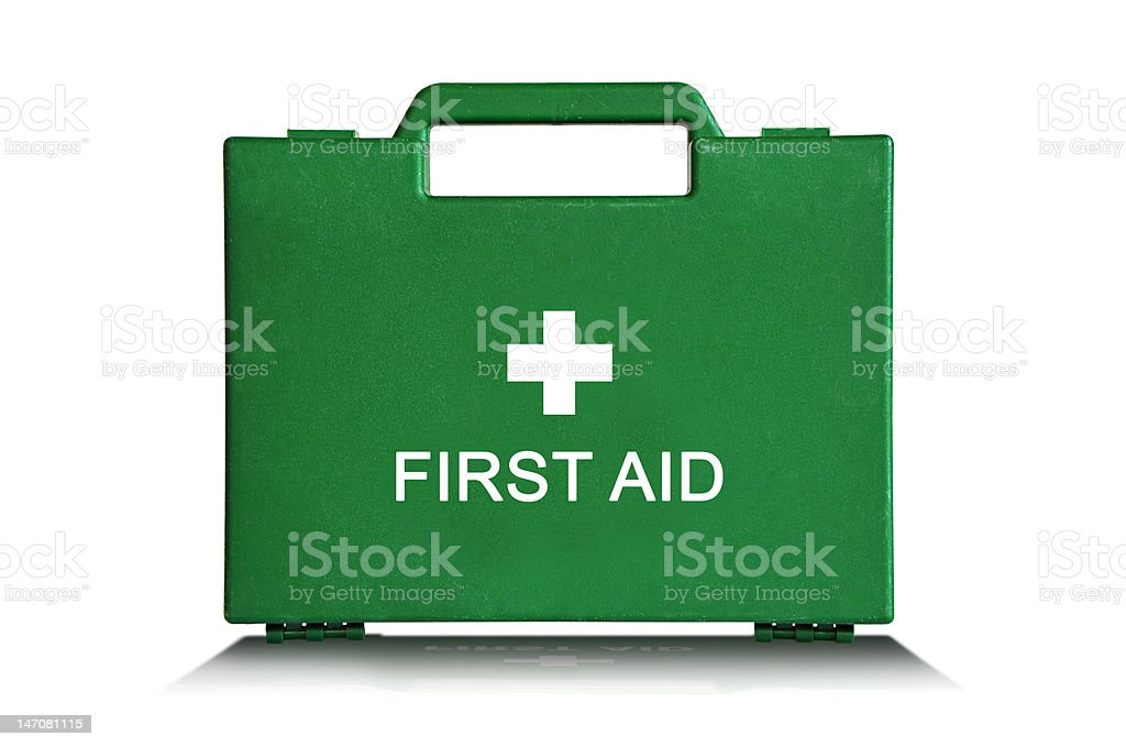 Green First Aid Box stock photo
