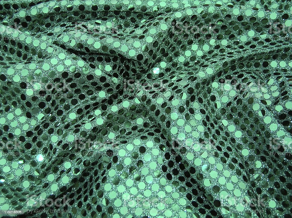 Green fish scale fabric royalty-free stock photo