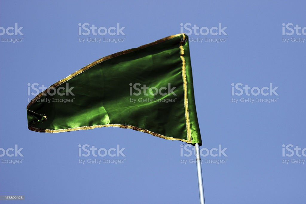 Green Flag royalty-free stock photo
