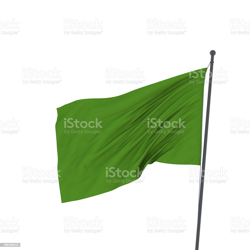 XXL green flag stock photo