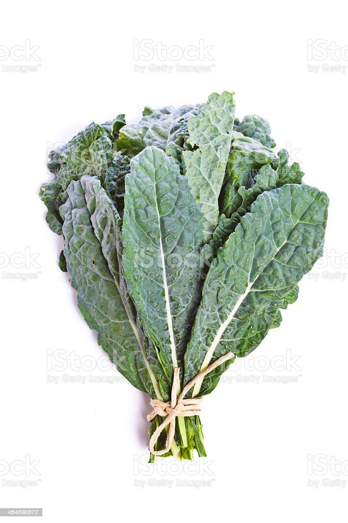 Green Flat Kale Retail bundle isolated on white Background stock photo