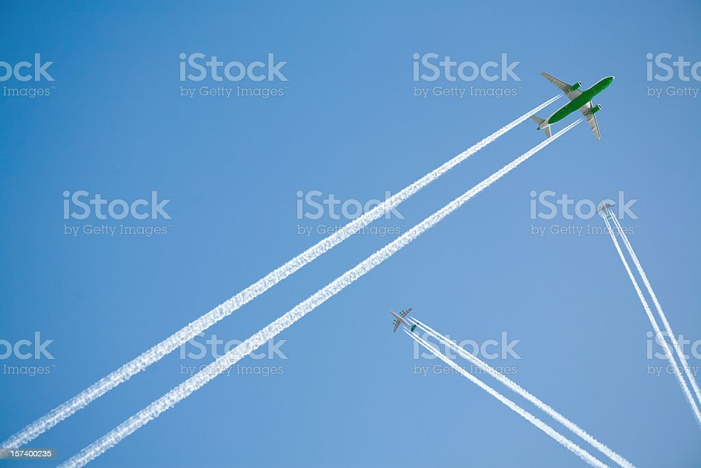 Green flight royalty-free stock photo