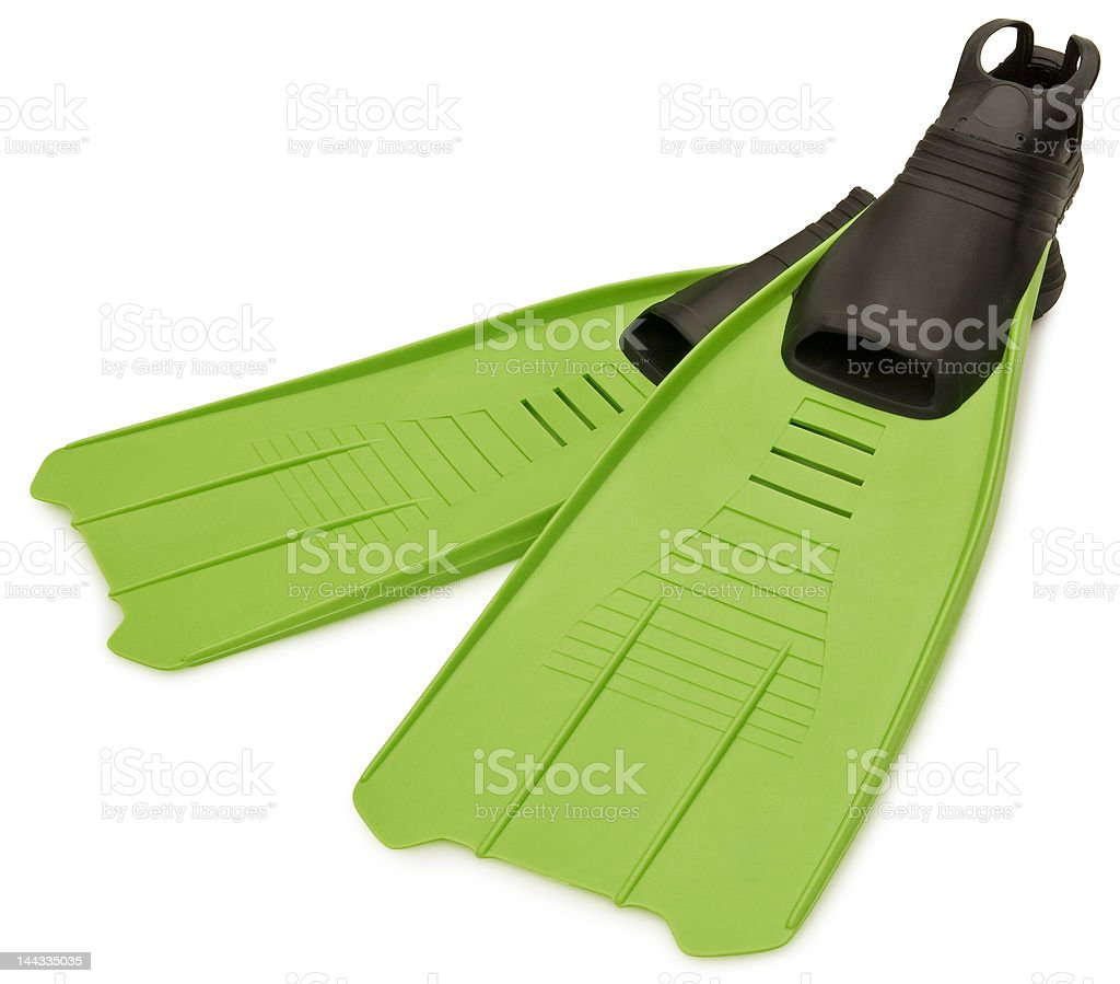 Green Flippers royalty-free stock photo