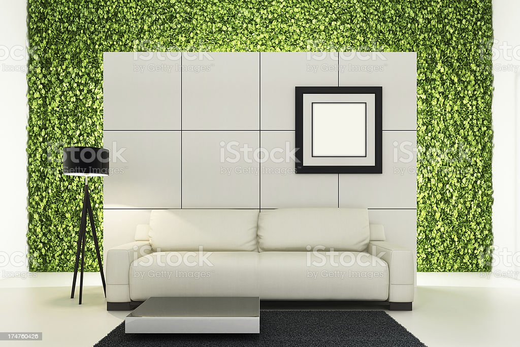 Green Flourish Interior royalty-free stock photo