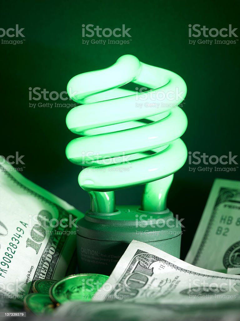 Green Fluorescent Lamp royalty-free stock photo