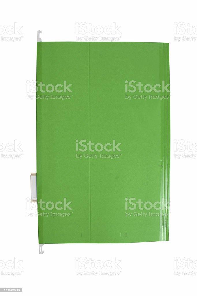green folder royalty-free stock photo