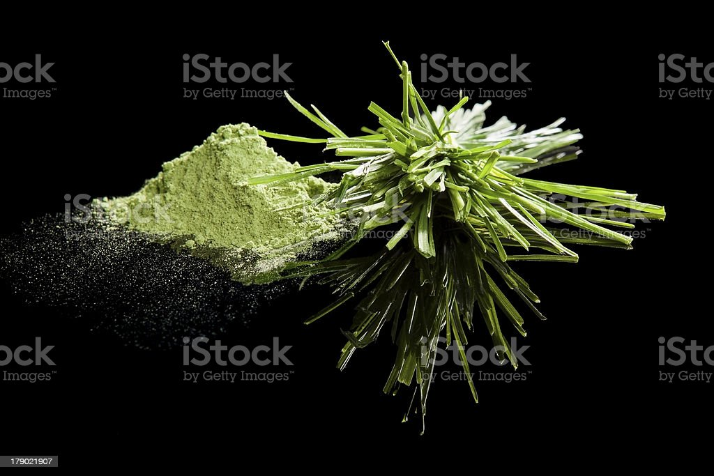 Green food supplements. royalty-free stock photo