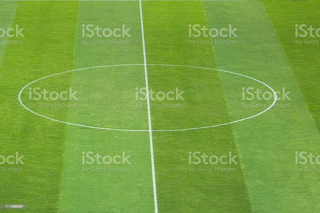 Green Football  Field royalty-free stock photo