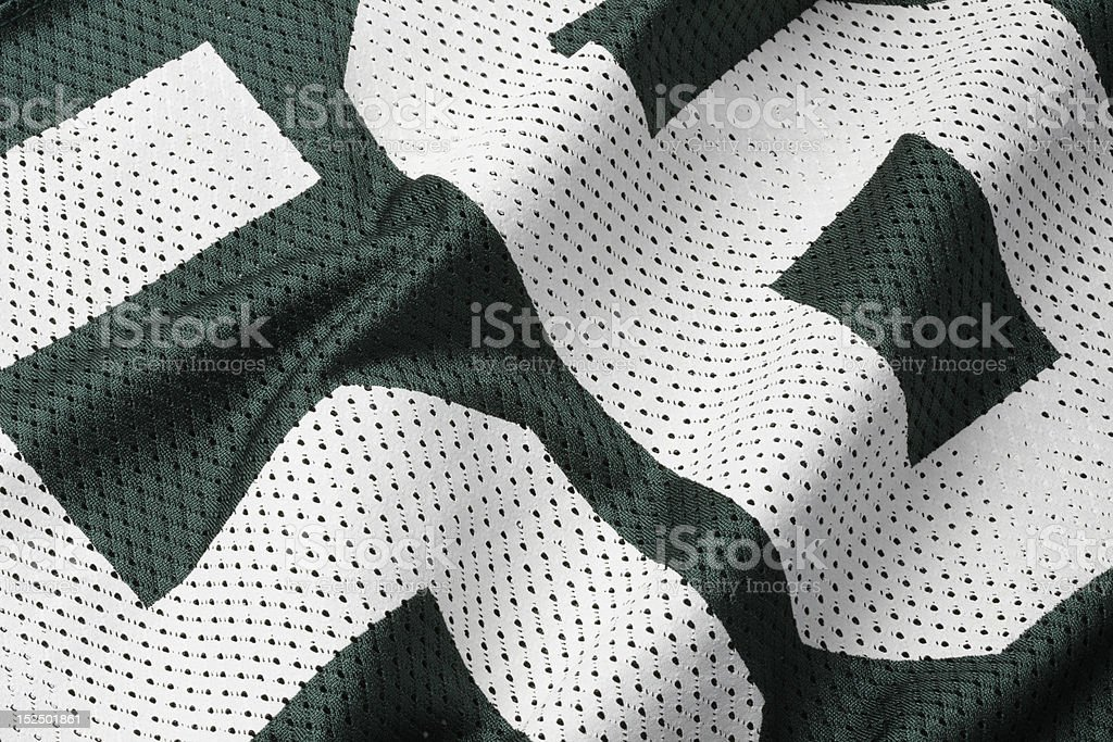 Green football Jersey royalty-free stock photo