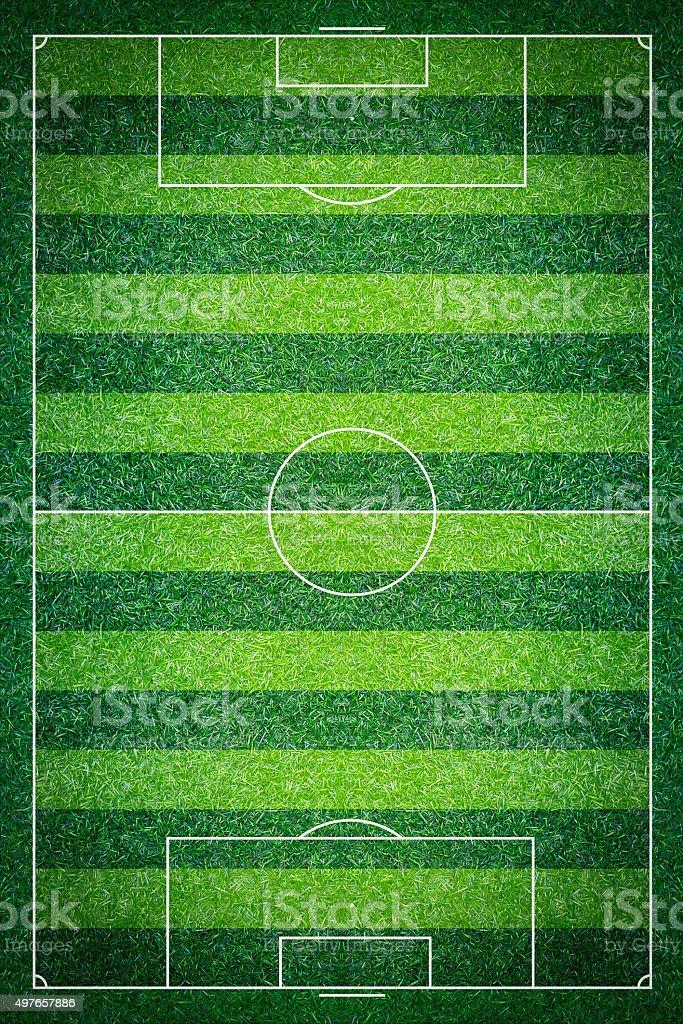Green Football Stadium field stock photo