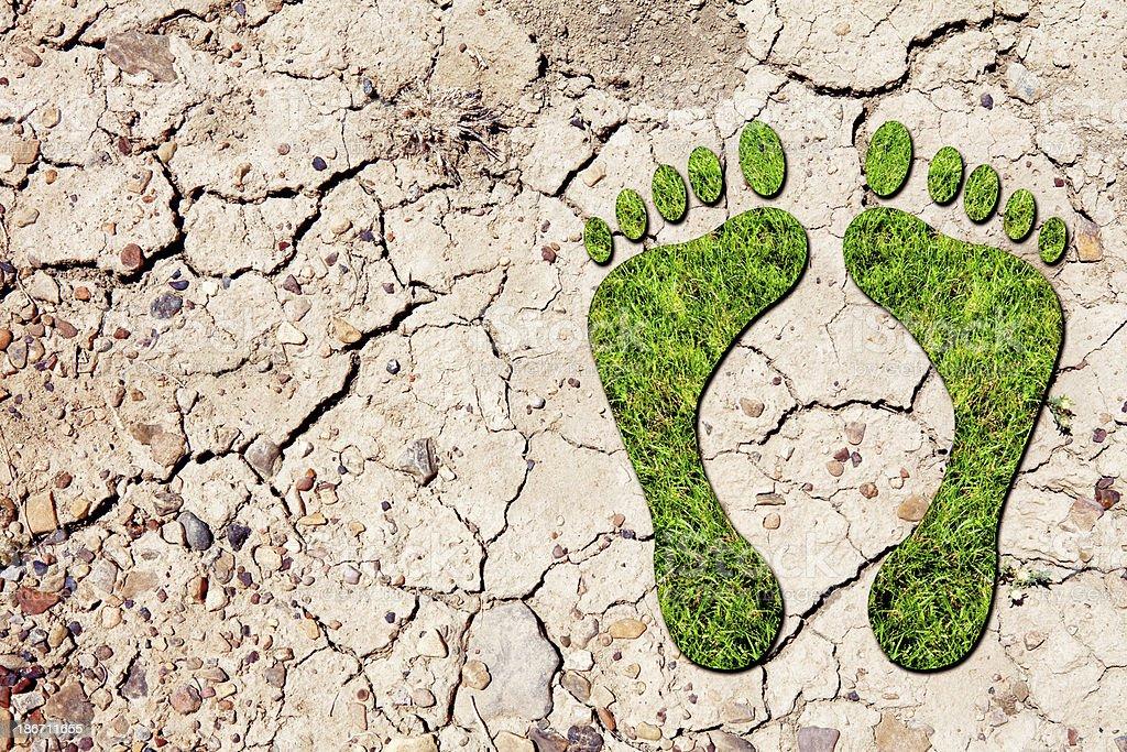 Green Footprint royalty-free stock photo